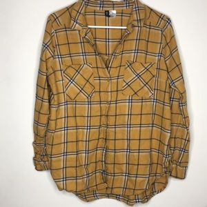 H&M Yellow Plaid Button Shirt